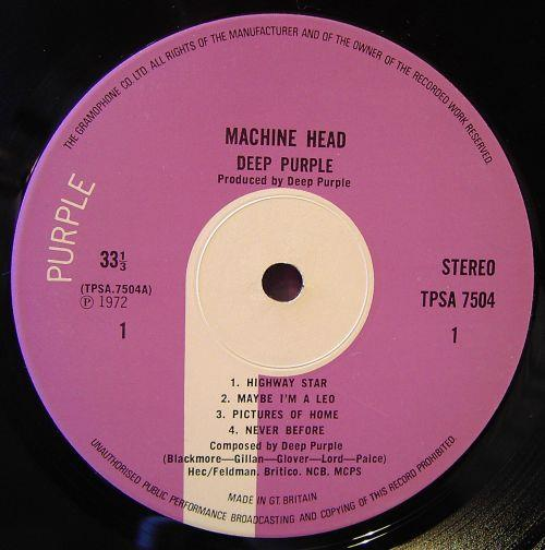 Deep Purple. Machine Head. Purple Records
